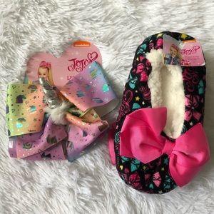 JoJo Siwa Unicorn Bow And Slipper Socks M/L